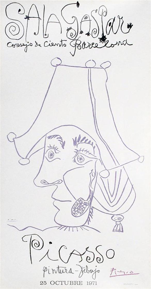 Sala Gaspa, Pintura - Dibujo Poster 1971 Huge 47x39 Limited Edition Print by Pablo Picasso