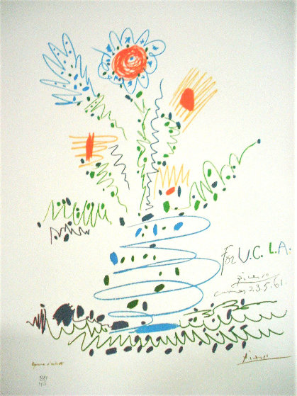 Flowers For UCLA EA 1961 Limited Edition Print by Pablo Picasso