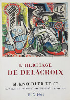 l'Heritage De Delacroix Poster 1964 (Early) Limited Edition Print by Pablo Picasso - 1