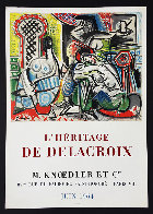 l'Heritage De Delacroix Poster 1964 (Early) Limited Edition Print by Pablo Picasso - 3