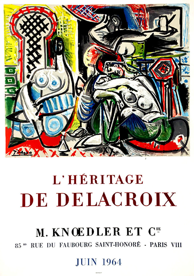 l'Heritage De Delacroix Poster 1964 (Early) Limited Edition Print by Pablo Picasso