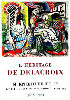 l'Heritage De Delacroix Poster 1964 (Early) Limited Edition Print by Pablo Picasso - 0