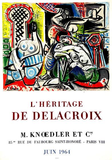 l'Heritage De Delacroix Poster 1964 Limited Edition Print by Pablo Picasso