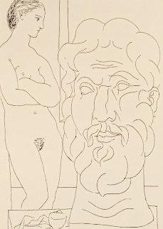 Modele Et Grande Tete Sculpte 1933  Limited Edition Print - Pablo Picasso