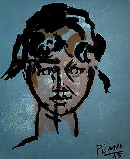 Fille Sur Bleu AP 1945 Limited Edition Print - Pablo Picasso