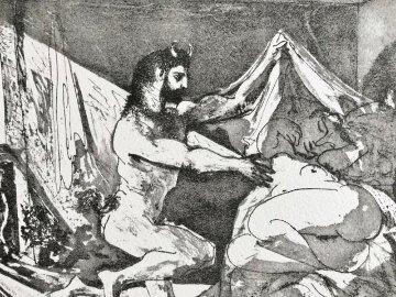 La Suite Vollard: Faune Dévoilant Une Dormeuse, Pl. 27 1936 Limited Edition Print - Pablo Picasso