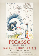 Picasso Dessins 1966-1967 Galerie Louise Leiris, Lithographic Poster 1968 Limited Edition Print by Pablo Picasso - 1