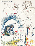 Picasso Dessins 1966-1967 Galerie Louise Leiris, Lithographic Poster 1968 Limited Edition Print by Pablo Picasso - 2