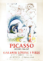 Picasso Dessins 1966-1967 Galerie Louise Leiris, Lithographic Poster 1968 Limited Edition Print by Pablo Picasso - 0