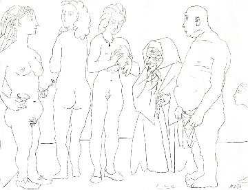 Personages Et Colombe 1954 Limited Edition Print - Pablo Picasso
