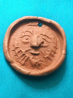 Homme Barbu  Terracotta Medallion 1949 1.5