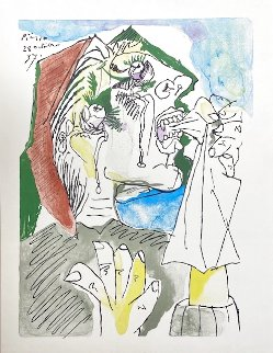 Weeping Woman Pochoir from the 15 Drawings Portfolio Limited Edition Print - Pablo Picasso