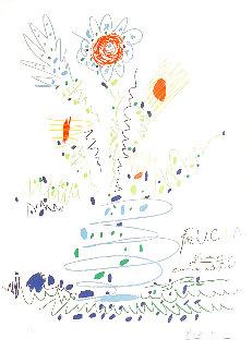 Fleurs Pour UCLA 1961 Limited Edition Print - Pablo Picasso
