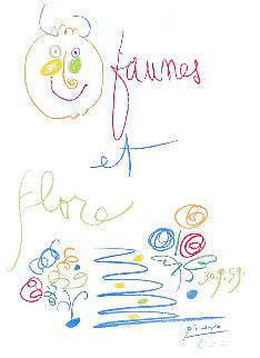 Faunes Et Flore D'antibes 1960 HS Limited Edition Print - Pablo Picasso