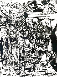 David and Bathsheba, After Lucas Cranach (David et Bethsabée, d'après Lucas Cranach) HS Limited Edition Print - Pablo Picasso