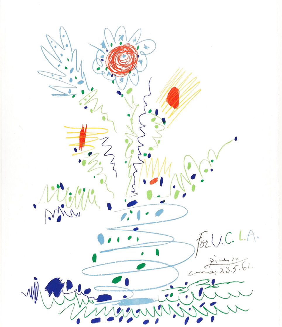 Fleurs For UCLA 1961 Limited Edition Print by Pablo Picasso