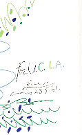 Fleurs For UCLA 1961 Limited Edition Print by Pablo Picasso - 2