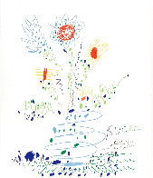 Fleurs For UCLA 1961 Limited Edition Print by Pablo Picasso - 3
