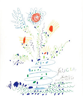 Fleurs For UCLA 1961 Limited Edition Print - Pablo Picasso