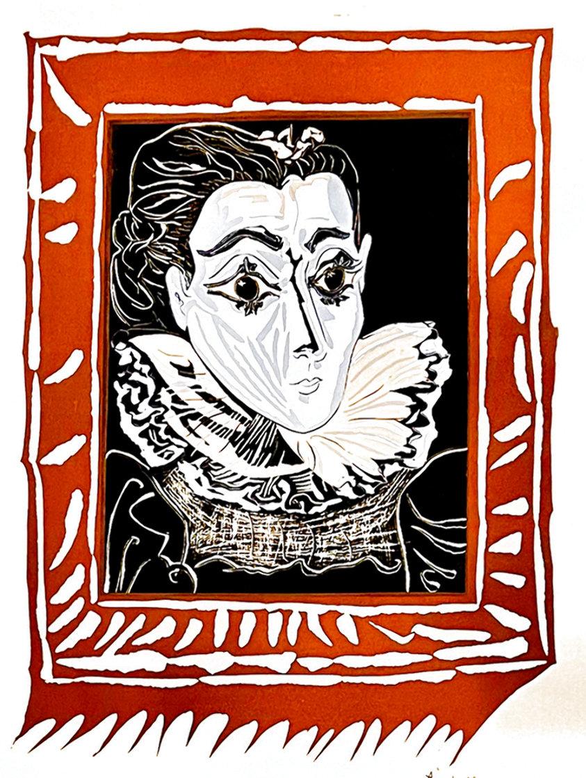 La Femme a La Fraise (Lady With a Ruff) 1979 Limited Edition Print by Pablo Picasso