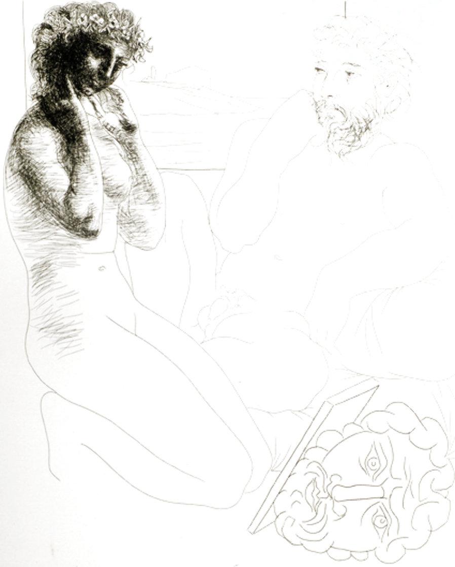 Sculpteur Et Modele Agenouille 1933 Limited Edition Print by Pablo Picasso
