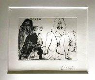 La Celestine, Sa Protegee, Et Un Jeune Gentilhomme AP 1968 HS  Limited Edition Print by Pablo Picasso - 1