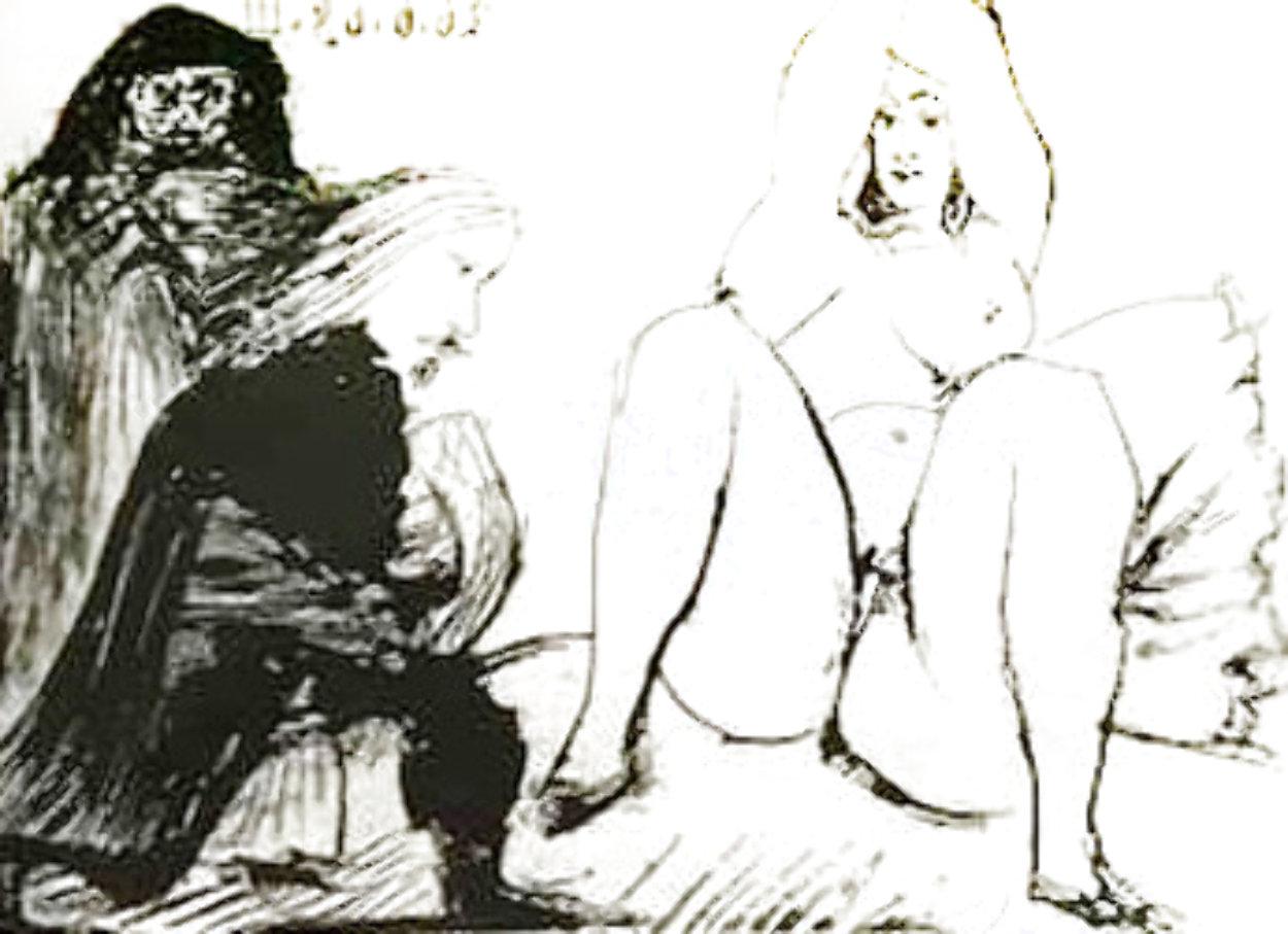 La Celestine, Sa Protegee, Et Un Jeune Gentilhomme AP 1968 HS  Limited Edition Print by Pablo Picasso