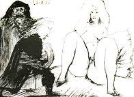 La Celestine, Sa Protegee, Et Un Jeune Gentilhomme AP 1968 HS  Limited Edition Print by Pablo Picasso - 0