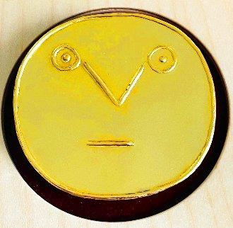 Visage Geometrique Aux Traits 23 Carat Gold Medallion 1956 2 in Jewelry - Pablo Picasso