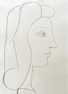 Profile De Femme 1947 HS Limited Edition Print - Pablo Picasso