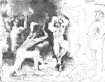 La Danse Des Faunes 1957 HS Limited Edition Print - Pablo Picasso