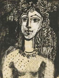 Jeune Fille (Inspired By Cranach) 1969 Limited Edition Print - Pablo Picasso