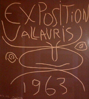 Exposition Vallauris Linocut - 1963 Limited Edition Print - Pablo Picasso