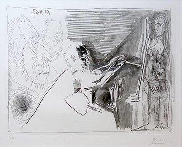Peinture Au Travail I 1963 Limited Edition Print - Pablo Picasso
