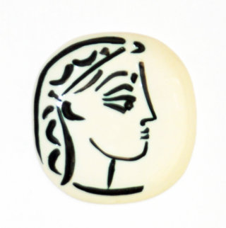 Jacqueline's Profile Earthenware Clay Sculpture, R383, 1956 Sculpture - Pablo Picasso