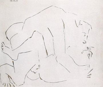 l'Etreinte, I (B. 1150) 1963 HS Linocut Limited Edition Print - Pablo Picasso