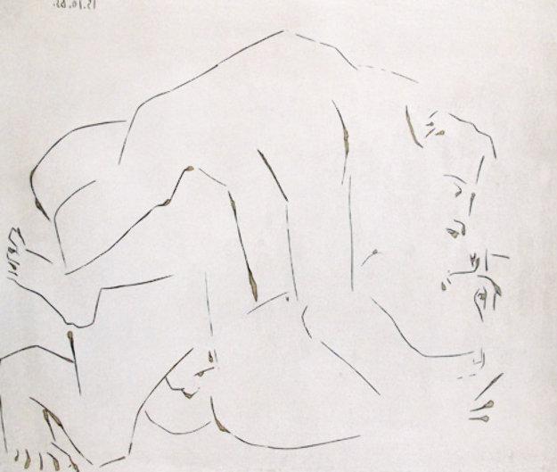 l'Etreinte, I (B. 1150) 1963 Limited Edition Print by Pablo Picasso