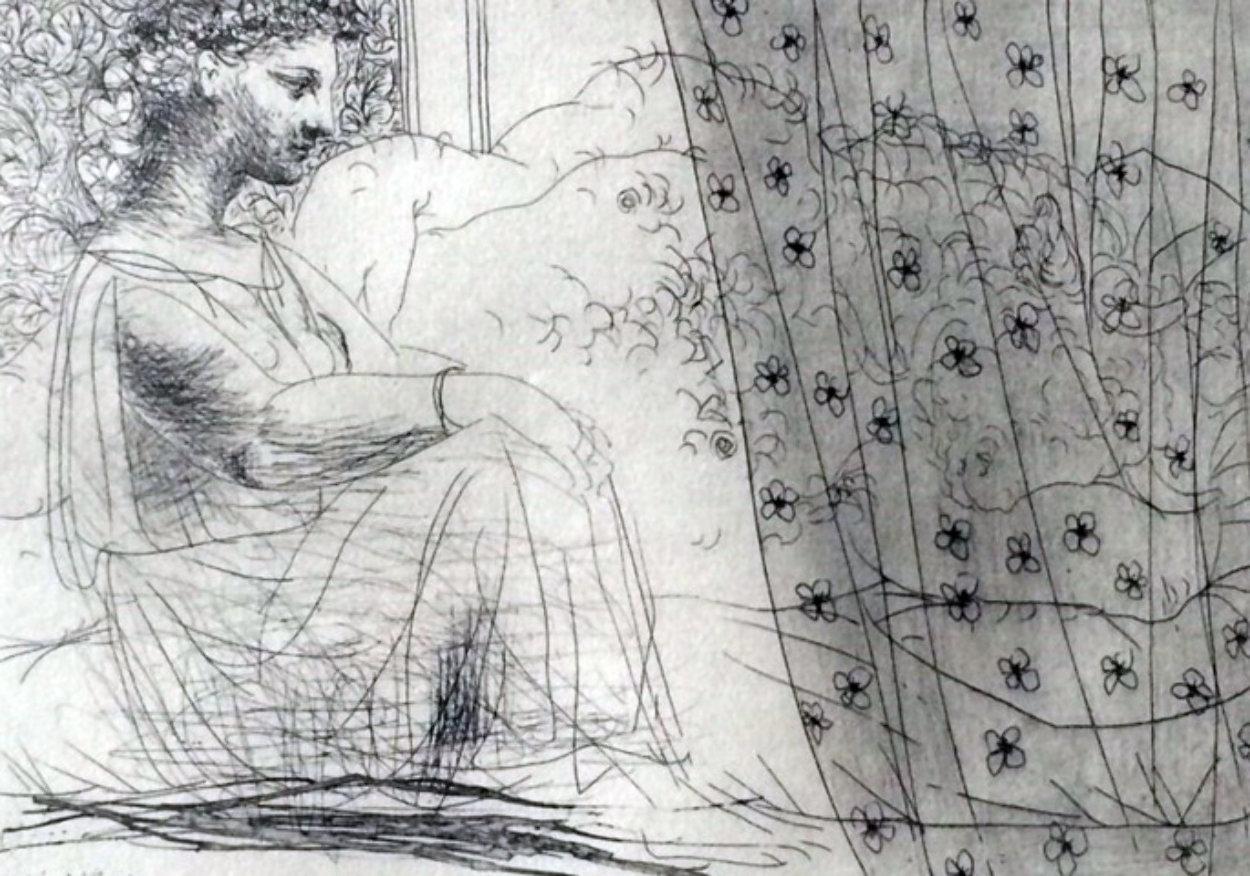 Minotaure Endormi Contemple Par Une Femme From the Vollard Suite 1933 Limited Edition Print by Pablo Picasso