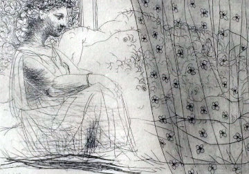 Minotaure Endormi Contemple Par Une Femme From the Vollard Suite 1933 Limited Edition Print - Pablo Picasso
