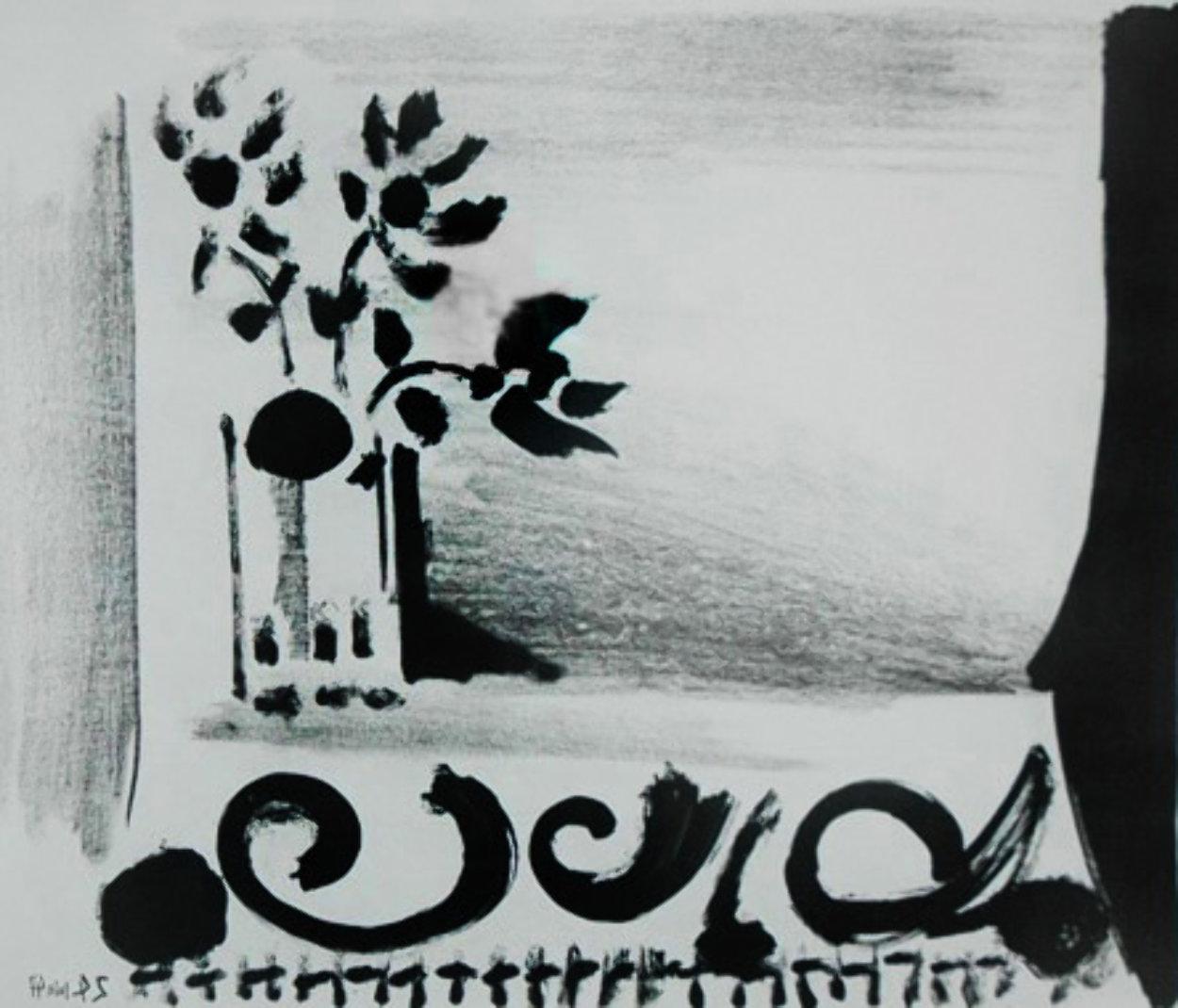 Vase De Fleurs Au Tapis a Ramages 1947  HS Limited Edition Print by Pablo Picasso