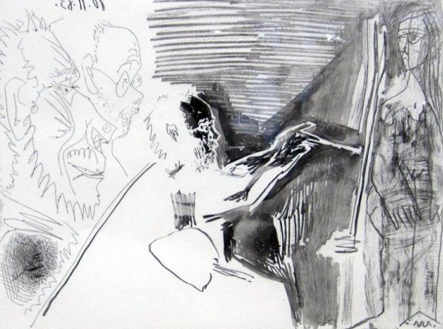 Peinture Au Travail #1 1963 Limited Edition Print by Pablo Picasso