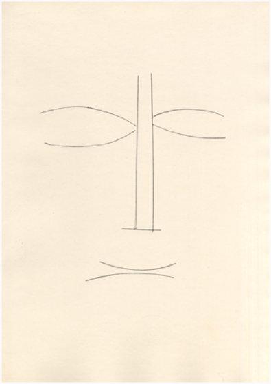 Visage De Face - Corps Perdu 1950 Limited Edition Print by Pablo Picasso