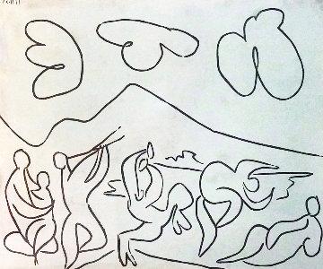 Bacchanale (bloch 927) Linocut 1959 Limited Edition Print - Pablo Picasso