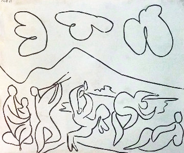 Bacchanale (bloch 927) Linocut 1959 Limited Edition Print by Pablo Picasso