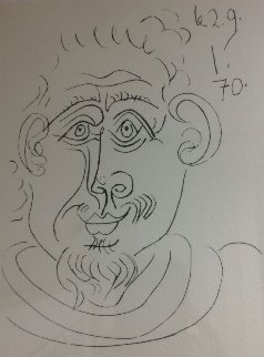 Portrait D'homme Barbu 1970 Limited Edition Print by Pablo Picasso
