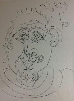 Portrait D'homme Barbu 1970 Limited Edition Print - Pablo Picasso