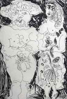 Paysan Et Maja I  1971 Limited Edition Print by Pablo Picasso
