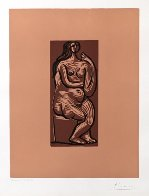 Nu Assis Linocut AP 1962 Limited Edition Print by Pablo Picasso - 1