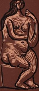 Nu Assis Linocut AP 1962 HS Limited Edition Print - Pablo Picasso