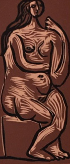 Nu Assis Linocut AP 1962 Limited Edition Print by Pablo Picasso